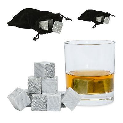 18 x Whisky Steine, Eiswürfel wiederverwendbar Kühlwürfel Getränke,