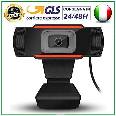 WEBCAM PC FULL HD 1280x720 con microfono skype smartworking video chiamate IT