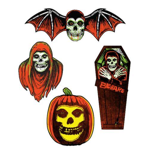 Set/4 The Misfits Fiend Music Album Art Bat Coffin Pumpkin Halloween Wall Decor