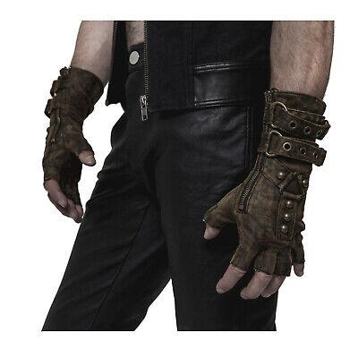 Adult Men's Steampunk Mad Max Apocalypse Halloween Costume Fingerless Gloves