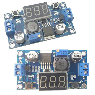 2pcs Adjustable Dc-dc Buck Step Down Converter Voltage Adapter Lm2596 Digital