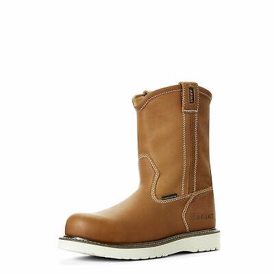 Composite Toe Wellington (Ariat 10023099 Men Rebar Wedge Sole Composite Safety Toe Wellington EH Work Boot)