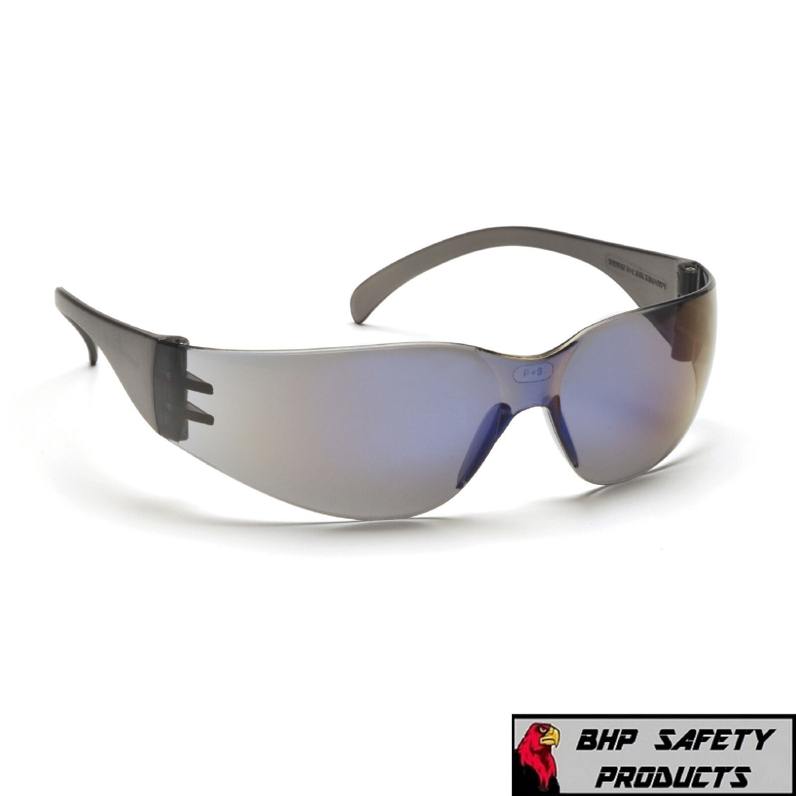 PYRAMEX INTRUDER SAFETY GLASSES ANSI Z87+ WORK EYEWEAR - LIGHTWEIGHT, SUNGLASSES Blue Mirror S4175S