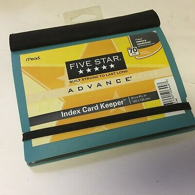 Five Star Advance Index Card Holder Keeper Color Will Vary 50644