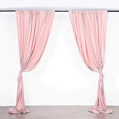 Rose Gold 10 X 10 Ft Polyester Backdrop Curtains Drapes Panels Home Party