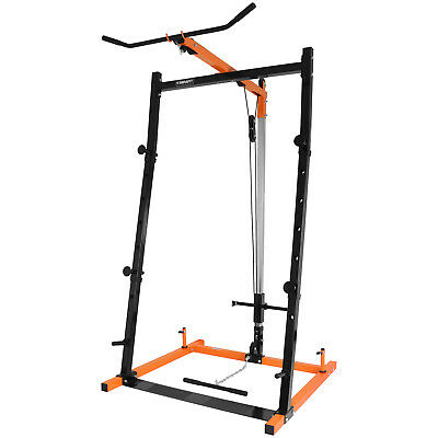Mirafit Barbell Squat Power Rack Lat Pull Down Station Multi Gym Cage/Stand for sale  United Kingdom