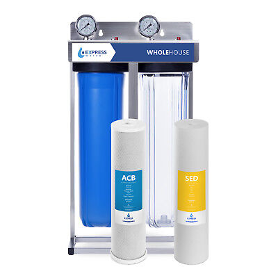 Express Water Whole House Water Filter – 2 Stage Home Water Filtration System