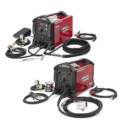 Lincoln Power Mig 210 Mp K3963-1 And Square Wave Tig 200 K5126-1 Garage Pak