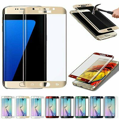 Full Cover Tempered Glass Curved Screen Protector for Samsung Galaxy S6 Edge + Cell Phone Accessories