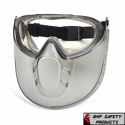 Pyramex Capstone Lab Safety Goggle With Adjustable Face Shield Gg504tshield