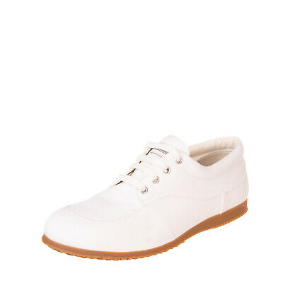 RRP €230 HOGAN Canvas Sneakers Size 45.5 UK 11 US 12 Contrast Outsole Lace Up