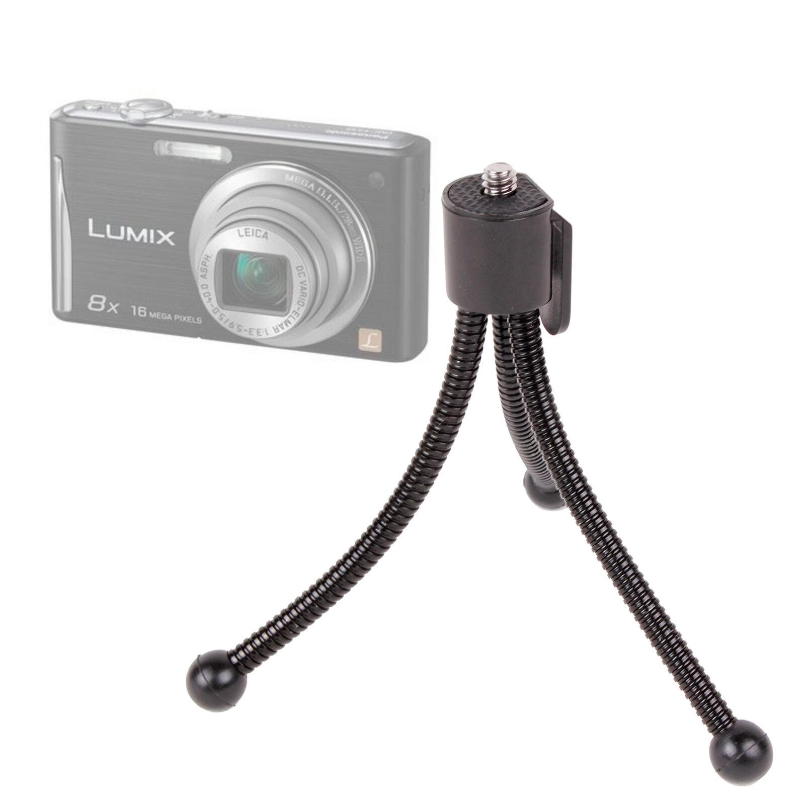 Lumix LX5 Compatible with Panasonic Lumix DMC-FH10//FS50 Lumix TZ18 /& DMC-TZ30EB-K DURAGADGET 2-in-1 Extendable Travel Tripod Lumix DMC-FS35
