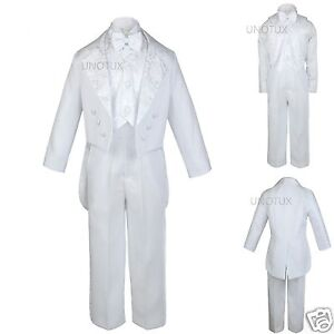 New-Infant-Boy-Toddler-Wedding-Communion-Baptism-Tuxedo-White-Suit-S-XL-2T-20