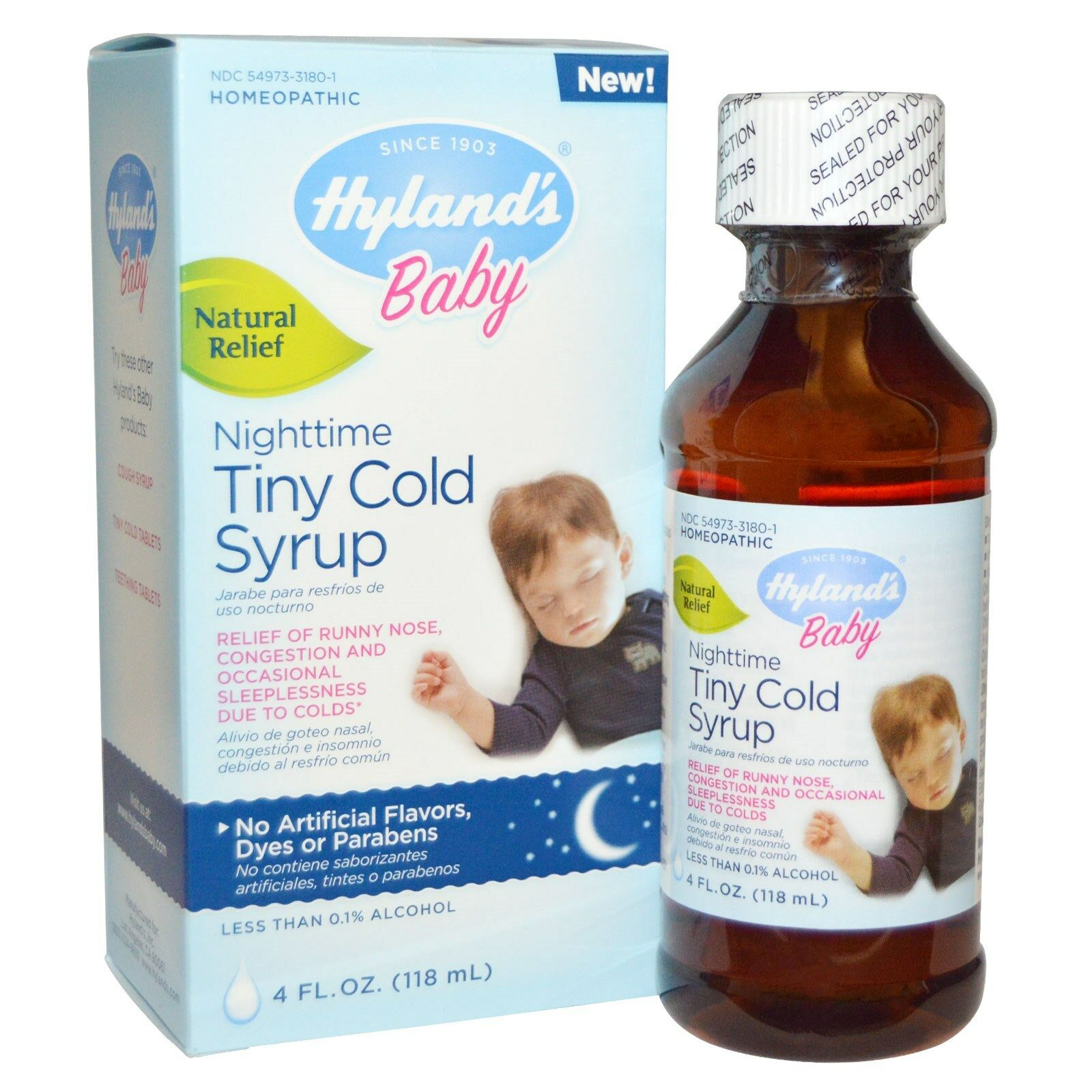 Hylands Homepathic Medicine Cold Syrup - Nighttime Tiny - Ba