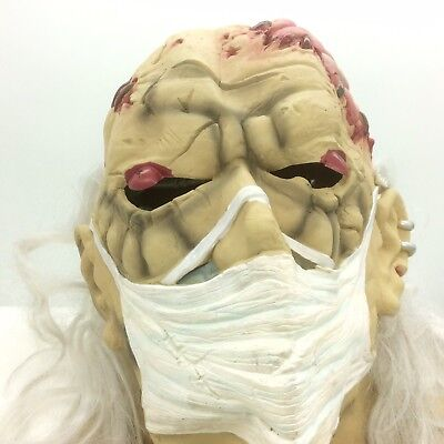 Dr Frankenstein Mad Scientist Head Mask SEASONS Halloween Costume Ghoul Monster