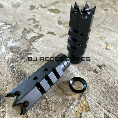 .223 5.56 Shark Muzzle Brake Compensator Comp 1/2-28 TPI 1/2x28 Spiked Muzzle