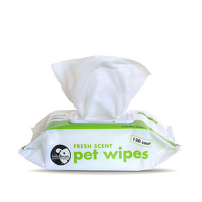 Pet Dog Puppy Wipes Cat Bathing Grooming Cleaning Deodorizing Wipe ~ 120 per pk