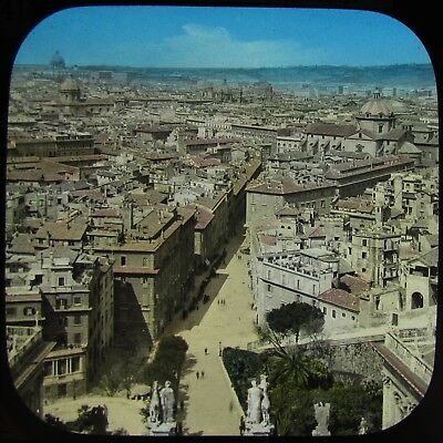 Glass Magic Lantern Slide ROOF TOP VIEW OF ROME C1890 VICTORIAN PHOTO ITALY ROMA ()