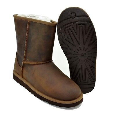 $160 Ugg Australia Classic Short Leather Chestnut brown 1006032 Kid Boot size 6  for sale  Shipping to Canada