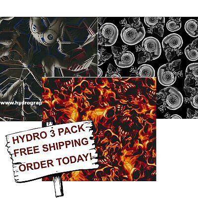 Hydrographic Film Water Transfer Printing Film Hydro Dip Aliens Hydro 3 Pack