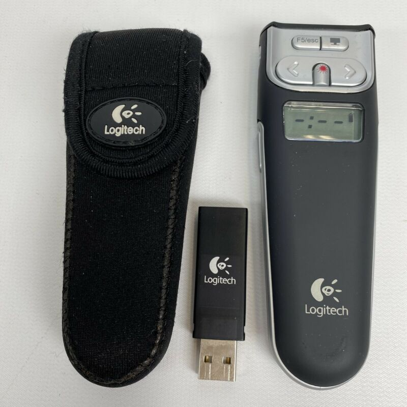Logitech R-RB5 2.4GHz Wireless Laser Pointer Presenter w Case And Usb Dongle