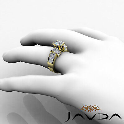 4 Prong Invisible Setting Princess Cut Diamond Engagement Ring GIA I VS2 2.96Ct 8