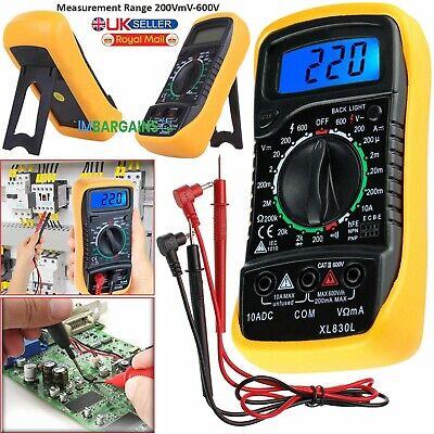 Lcd Digital Multimeter Voltmeter Ammeter Buzzer Tester Ac Dc Ohm Current Circuit