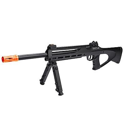 ASG Tac 6 CO2 Gas Non Blowback Semi-Auto Airsoft Sniper Rifle w/ Bipod Black