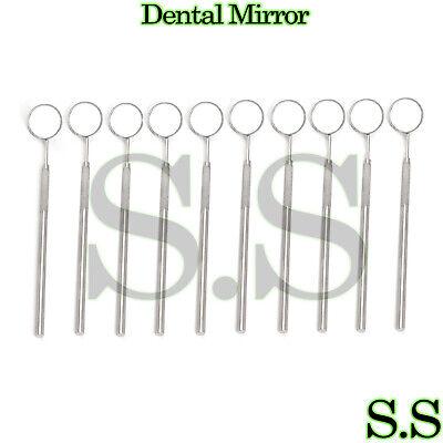 10 Pcs Dental Mirror 4 Whandle Dental Instrument
