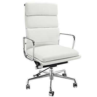 Eames Softpad Executive Chair Style Office Reproduction High Back White