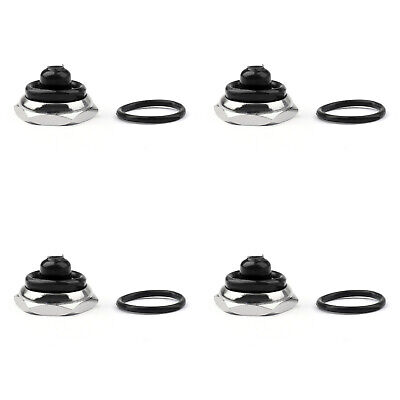 4x Car Toggle Switch Boot 12mm Rubber Waterproof Cover Cap Ip67 T700-6 Blk At2