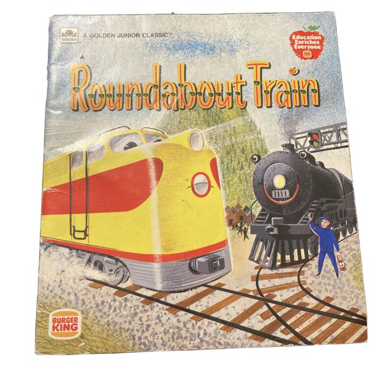"Vtg 1958 ""Roundabout Train"" Book Education Everyone Burger King  Promotion"