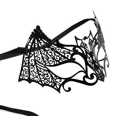 Damen Maskerade Schwarze Fledermaus Katze Halloween Gesicht Augen Maske Metall