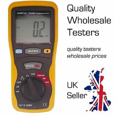 Portable Milliohm Meter Low Resistance Digital Tester Amecal St-5302
