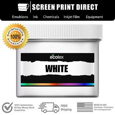 Ecotex White - Premium Plastisol Ink For Screen Printing Silk Screen - Pint