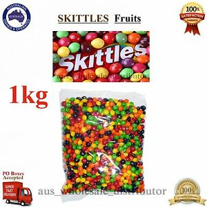 Mars Skittles Fruit 1kg Fruity Candies Buffet Candy Sweet Party Favors Bulk Bag
