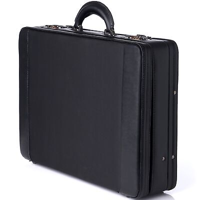 Expandable Attache - Alpine Swiss Expandable Attache Case Dual Combination Lock Hard Side Briefcase