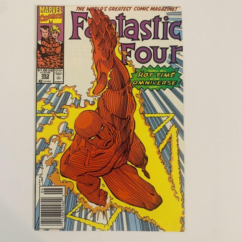 Fantastic Four 353 Newsstand Edition 1st Mobius (Loki MCU)Key Marvel Comic NM-