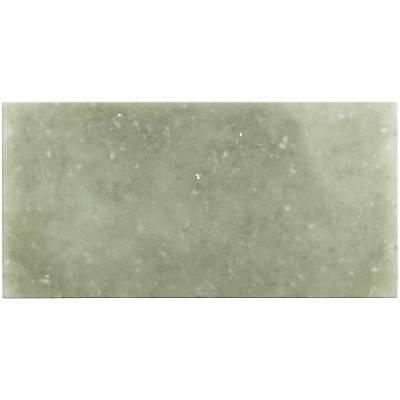 Contemporary Rectangular Light Green Frosted Glass Backsplash Tile Wall MTO0060