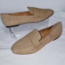 J Crew Factory Womens Suede Penny Loafers US 10.5 Camel ...