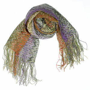 MISSONI Women's multi color Zig Zag Pattern Scarf