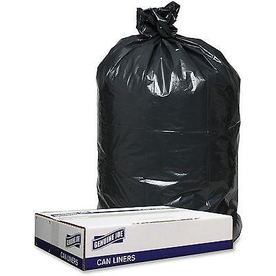 Genuine Joe Trash Can Liners, 1.2mil, 40x46, 100BG/CT, Black
