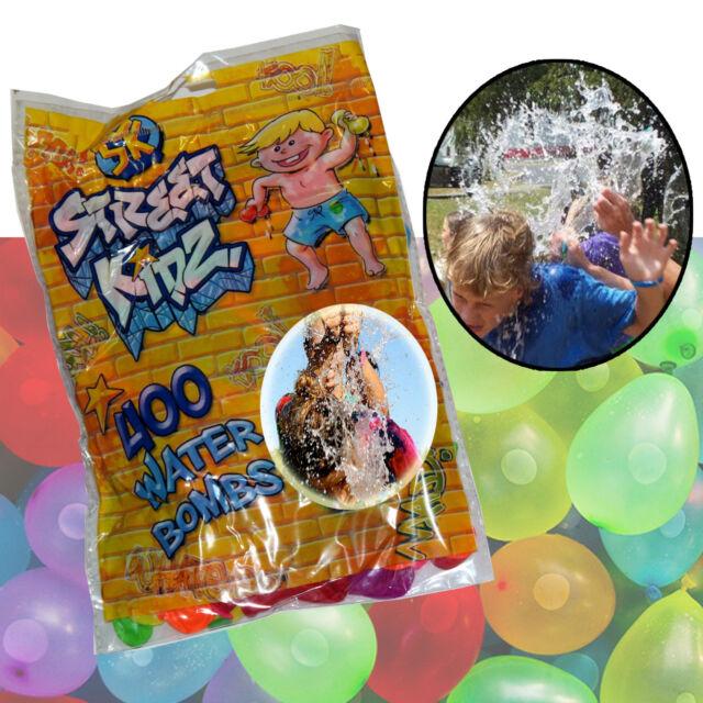 Water Balloons Bombs Tap Filler Colored 250 Splash Party Garden Kids Outdoor Fun