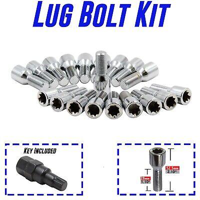 Tuner Lug Bolts BMW E36 E46 323 325 328 330 M3, 20 Chrome Bolts NEW 28 mm 12x1.5 Bmw Chrome Lug Bolts