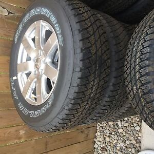 Brand new dealer take off wheels and tires. Jeep jk 2016 London Ontario image 1