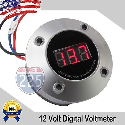 2 Digital Voltmeter W Neon Red Led Car Volt Gauge 12v24v Dc Electric Battery