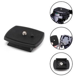 Tripod Quick Release Plate Screw Adapter Mount Head For Camera DSLR SLR Black