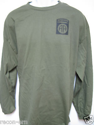 - 82nd AIRBORNE long sleeve T-SHIRT/ FRONT PRINT ONLY / MILITARY / ARMY / NEW