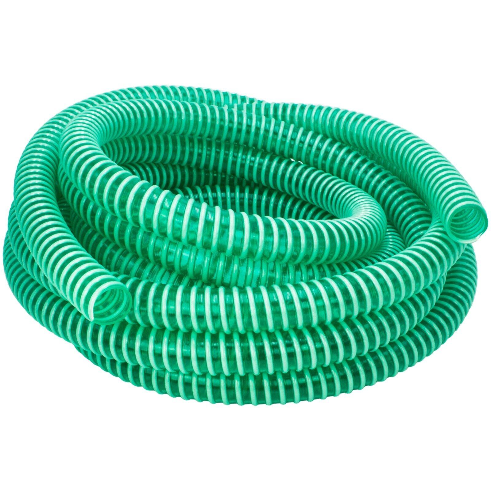 PVC Saugschlauch Spiralschlauch Garten Teich Pump Wasser Förder Schlauch Schwarz