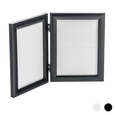 Double Photo Frame (Double Photo Frame Picture Frames Folding Standing Hinged Black 5x7)